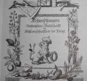 Title page publication Bohemian Scientific Society