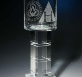 Bohemia crystal goblet by Larva 2006