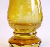 Bohemian firing glass yellow, 20thC