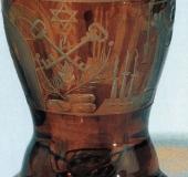 Bohemian glass amber colored 1850