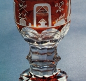 Bohemian glass red coating 2H 19ct