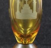 Bohemian glass glass, 20thC