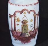 Milk glass tankard ca 1770 Harrachov, Bohemia
