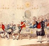 Print Cagliostro in London 1786
