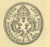 Seal Drei gekronten Sternen Prague
