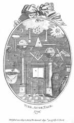Masonic medailon engraved 1776